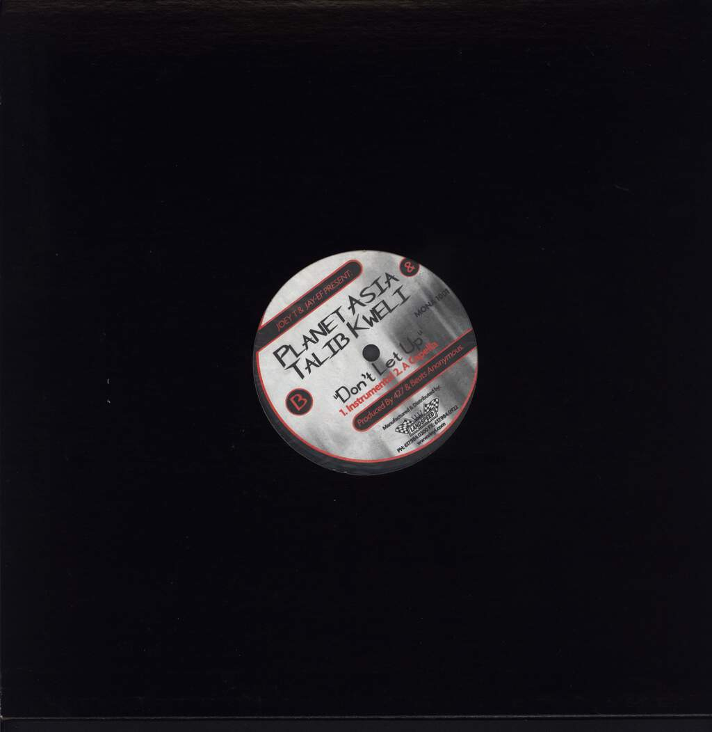 "Planet Asia: Don't Let Up, 12"" Maxi Single (Vinyl)"