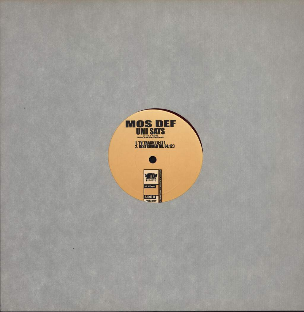 "Mos Def: Umi Says, 12"" Maxi Single (Vinyl)"