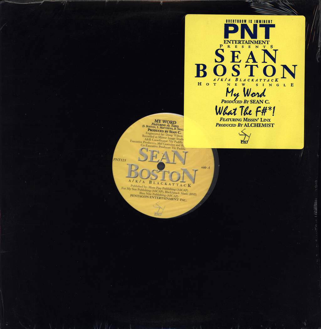 "Sean Boston: My Word, 12"" Maxi Single (Vinyl)"