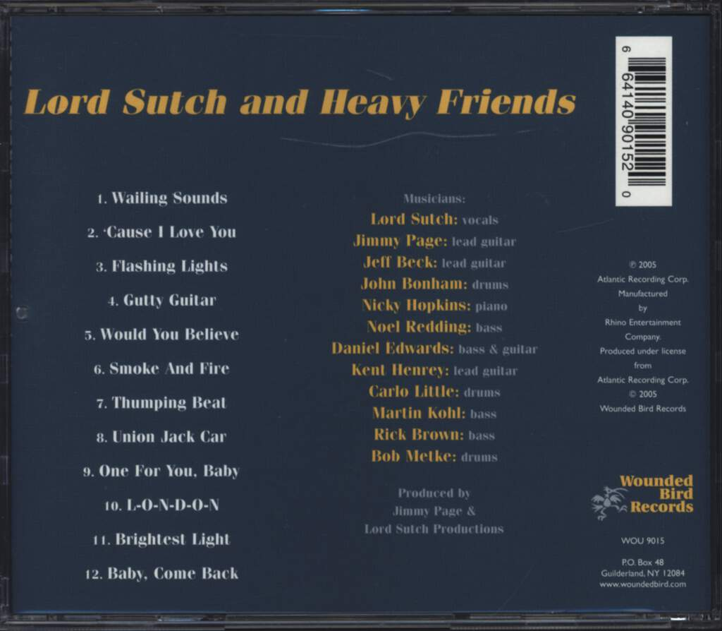 Lord Sutch And Heavy Friends: Lord Sutch & Heavy Friends, CD