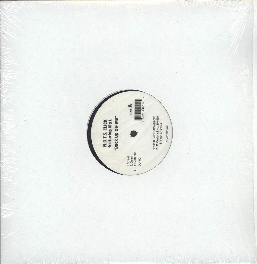 "N. O. T. S. Click: Back Up Off Me / Watch Ya Step, 12"" Maxi Single (Vinyl)"
