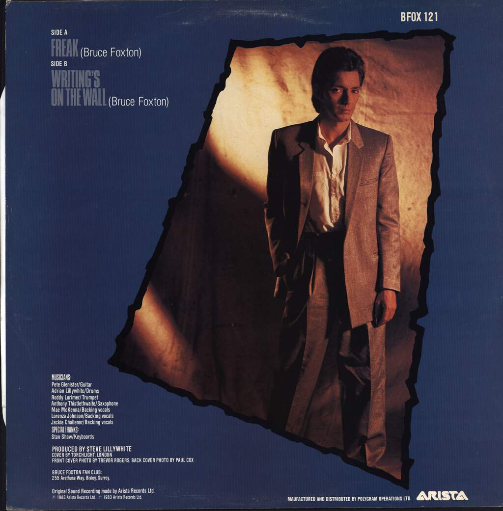 "Bruce Foxton: Freak, 12"" Maxi Single (Vinyl)"
