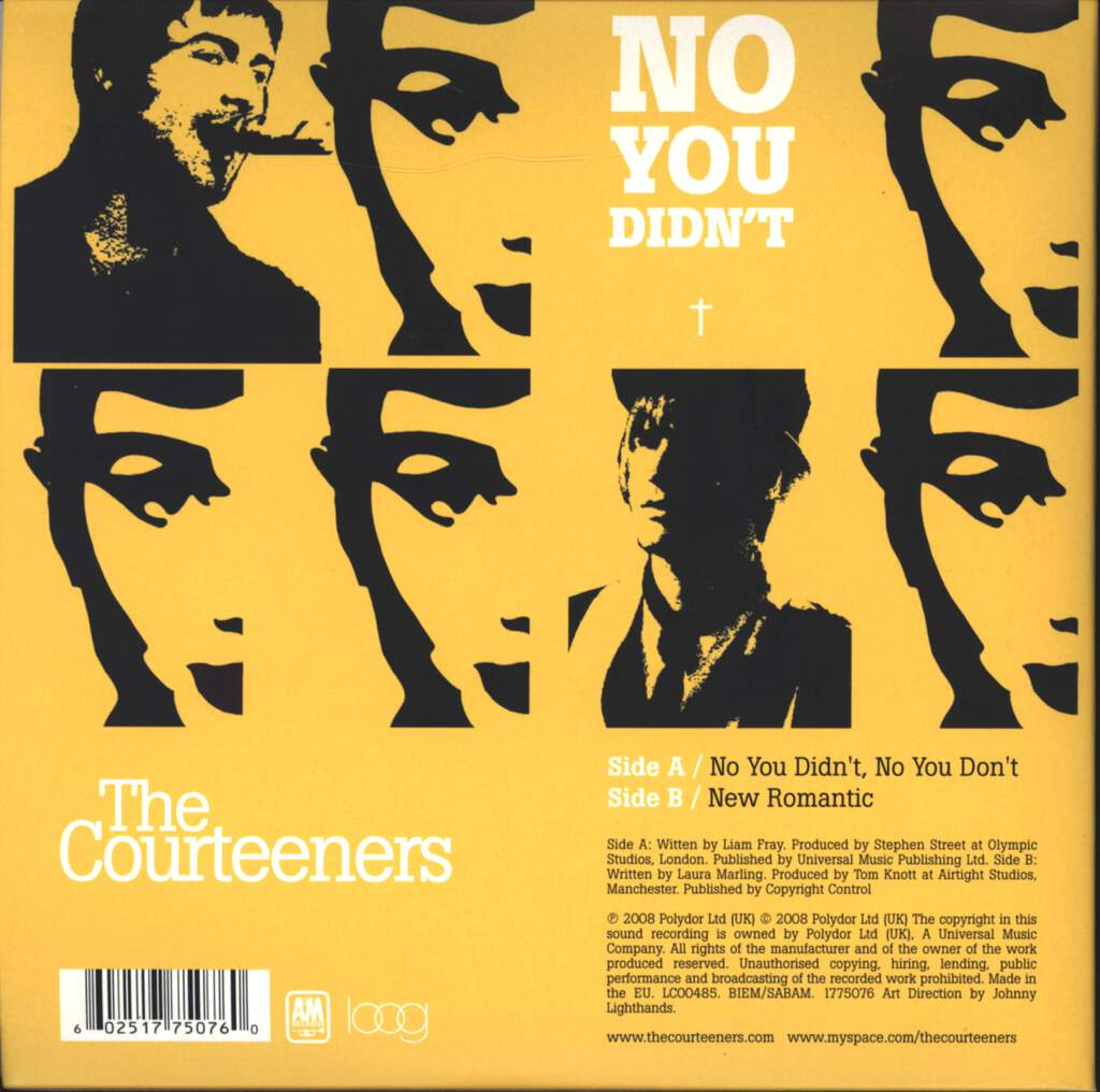 "The Courteeners: No You Didn't, No You Don't, 7"" Single (Vinyl)"