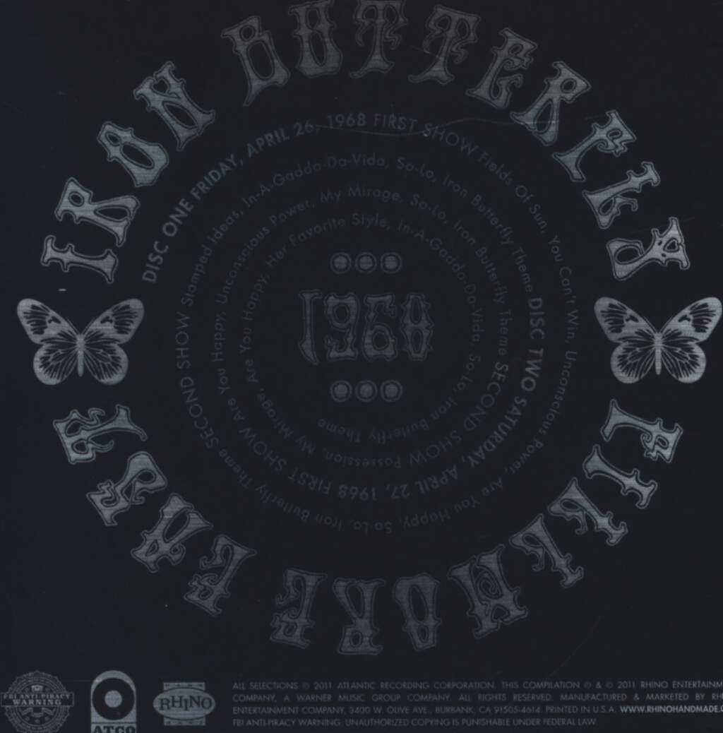Iron Butterfly: Fillmore East 1968, CD