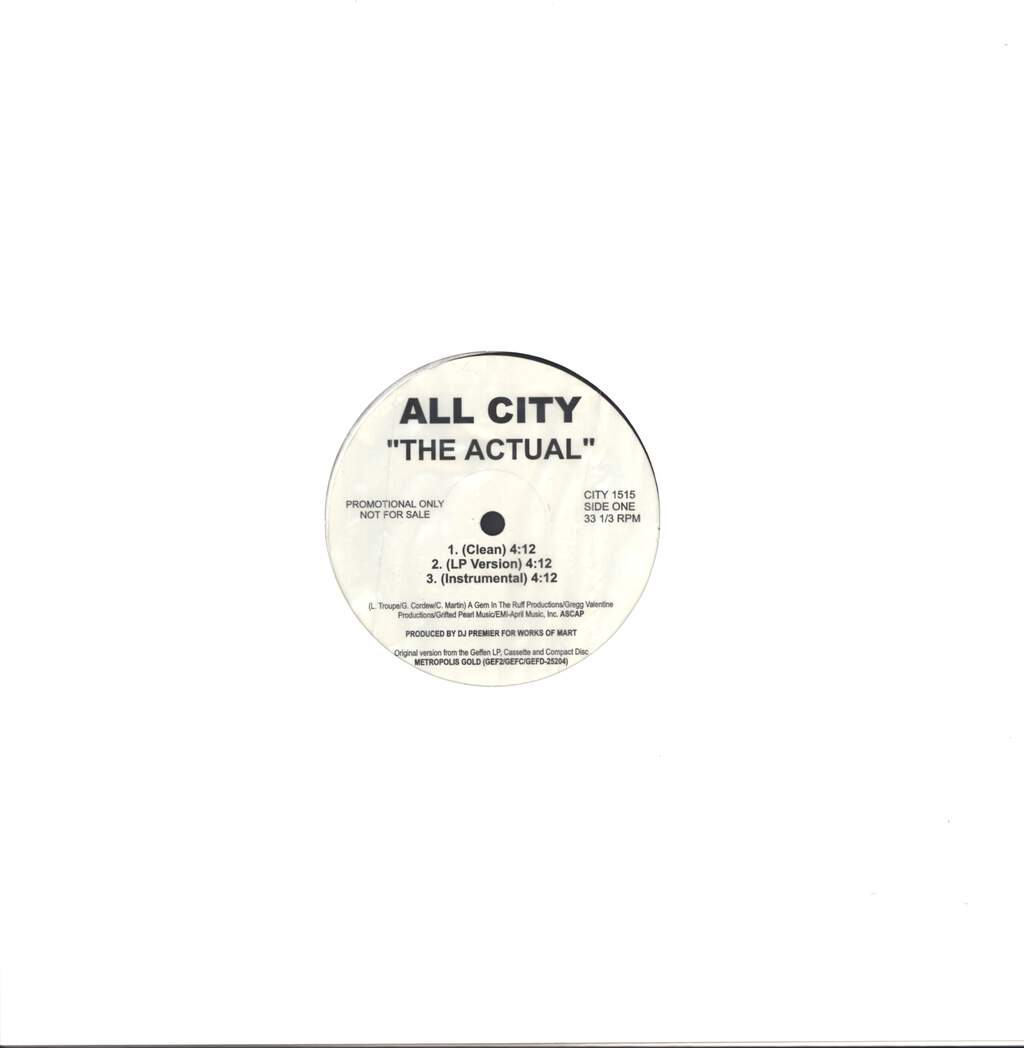 "All City: The Actual, 12"" Maxi Single (Vinyl)"