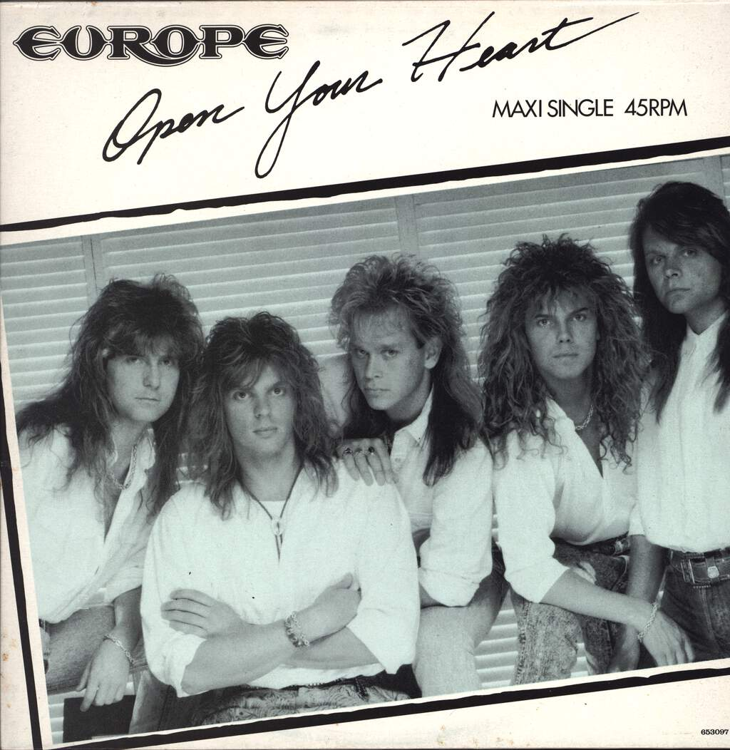 "Europe: Open Your Heart, 12"" Maxi Single (Vinyl)"