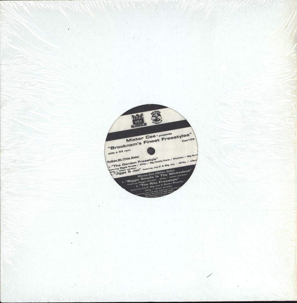 "Various: Mister Cee Presents ""Brooknam's Finest Freestyles"", 12"" Maxi Single (Vinyl)"