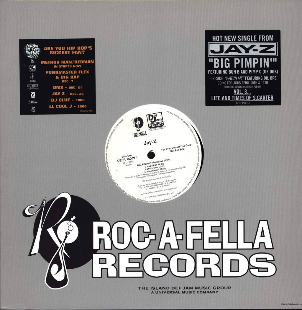 "Jay-Z: Big Pimpin, 12"" Maxi Single (Vinyl)"