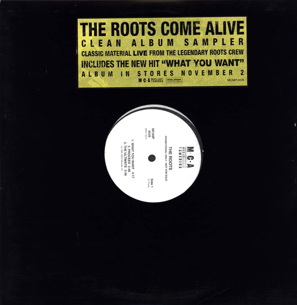 "The Roots: Come Alive (Clean Album Sampler), 12"" Maxi Single (Vinyl)"