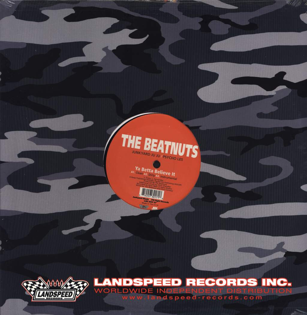 "The Beatnuts: Ya Betta Believe It / U Crazy, 12"" Maxi Single (Vinyl)"