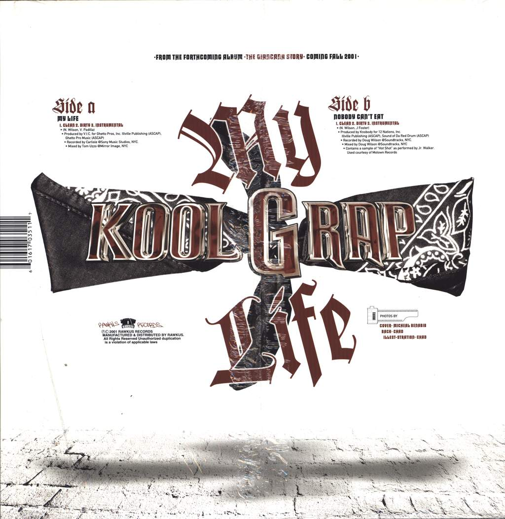 "Kool G Rap: My Life / Nobody Can't Eat, 12"" Maxi Single (Vinyl)"