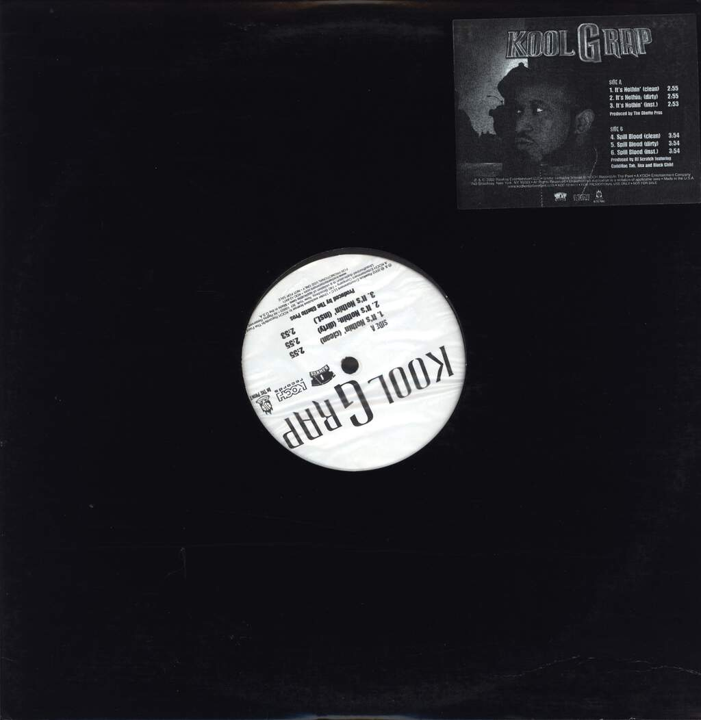 "Kool G Rap: It's Nothin' / Spill Blood, 12"" Maxi Single (Vinyl)"