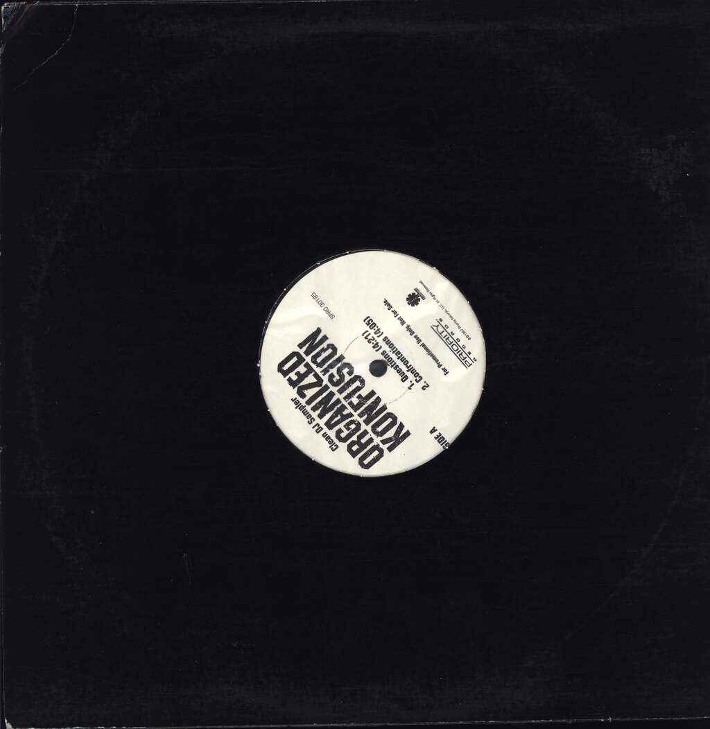 "Organized Konfusion: Clean DJ Sampler, 12"" Maxi Single (Vinyl)"