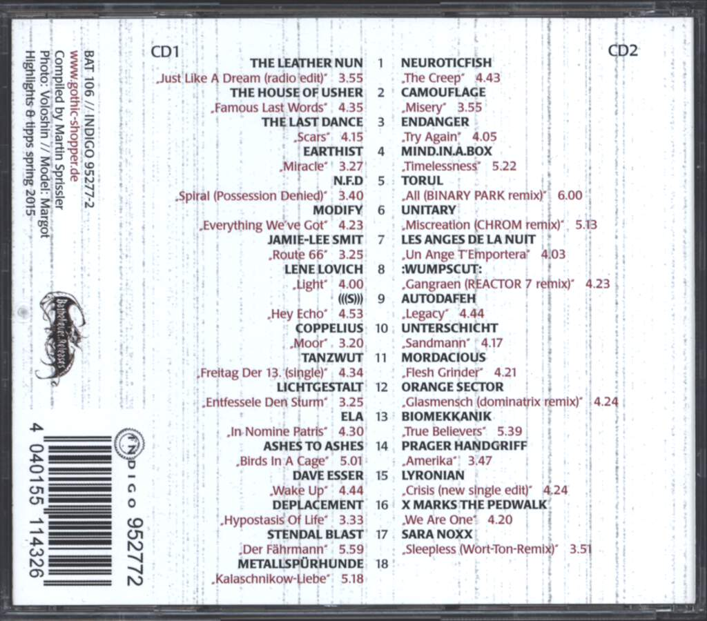 Various: Gothic Compilation Part LVIII, CD