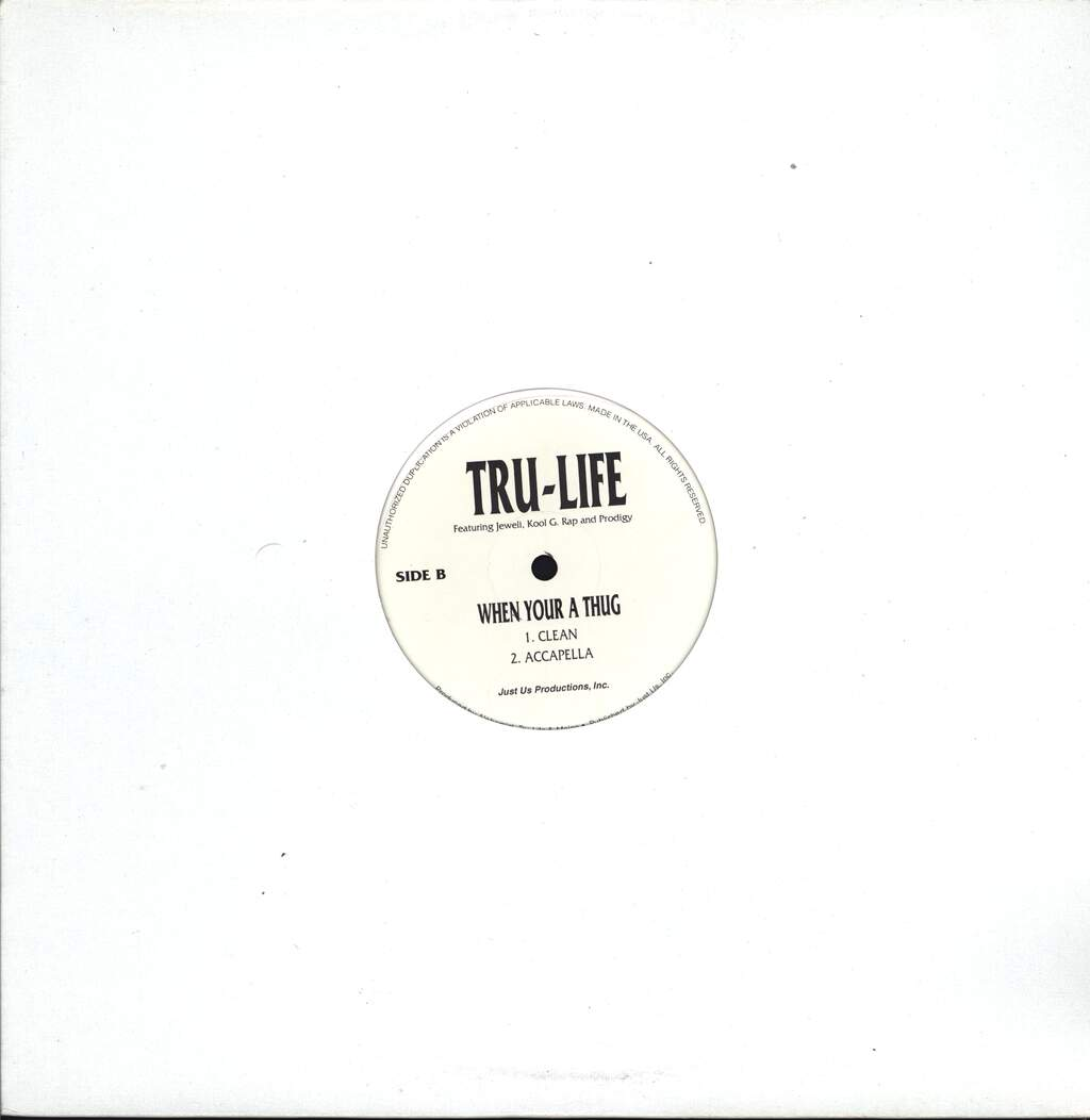 "Tru-Life: When Your A Thug, 12"" Maxi Single (Vinyl)"