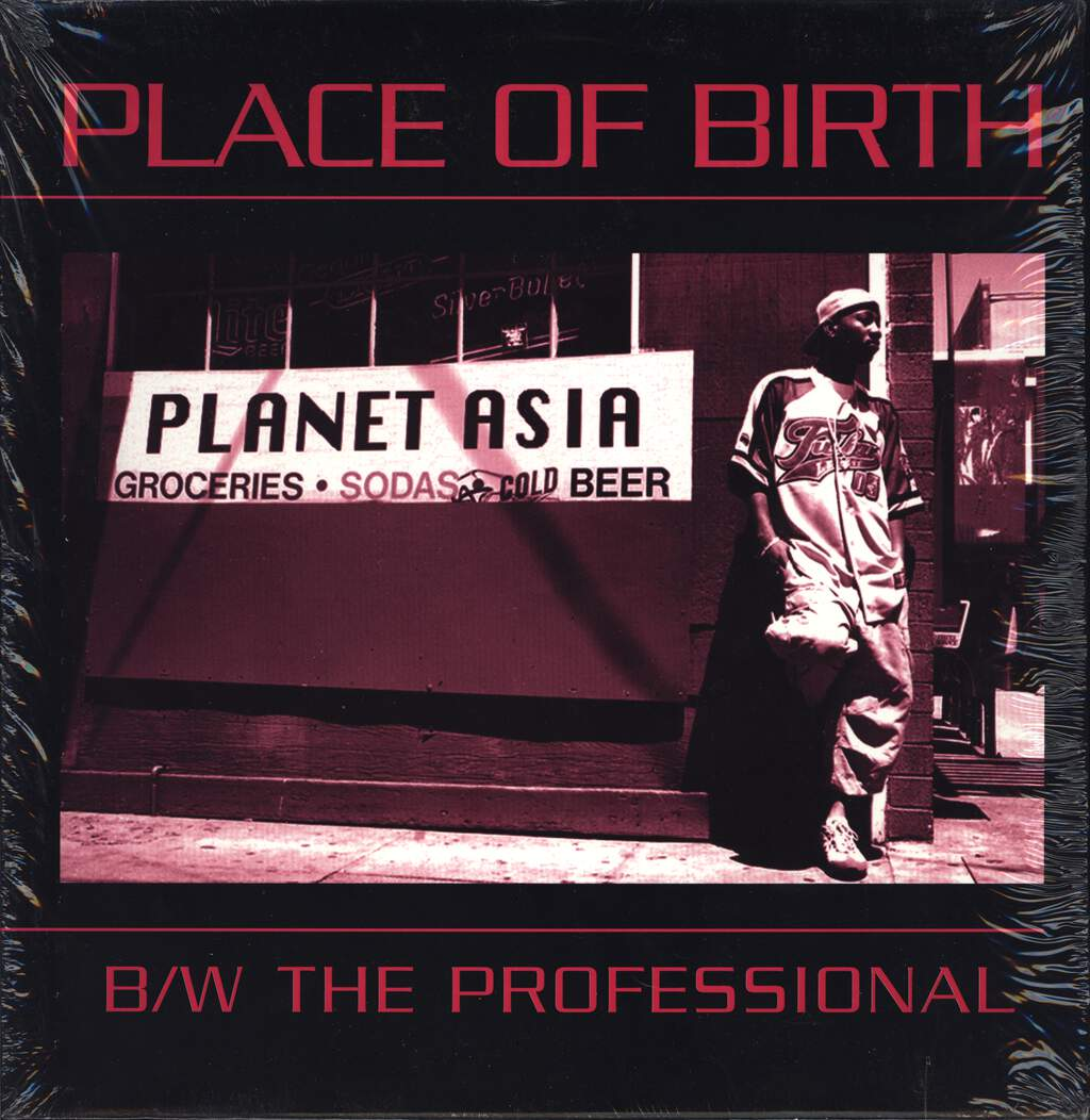 "Planet Asia: Place Of Birth / The Professional, 12"" Maxi Single (Vinyl)"