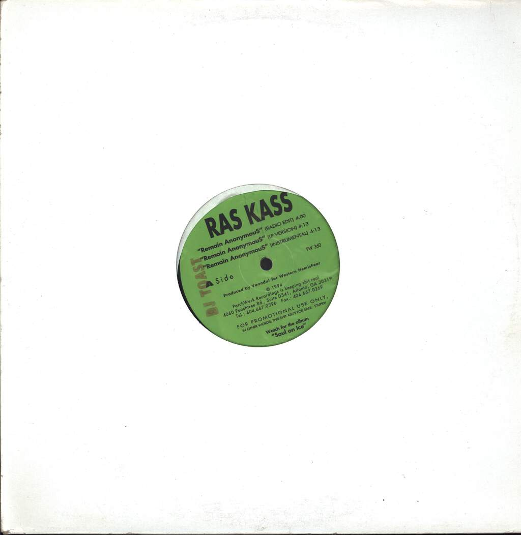 "Ras Kass: Remain AnonymouS / Etc., 12"" Maxi Single (Vinyl)"
