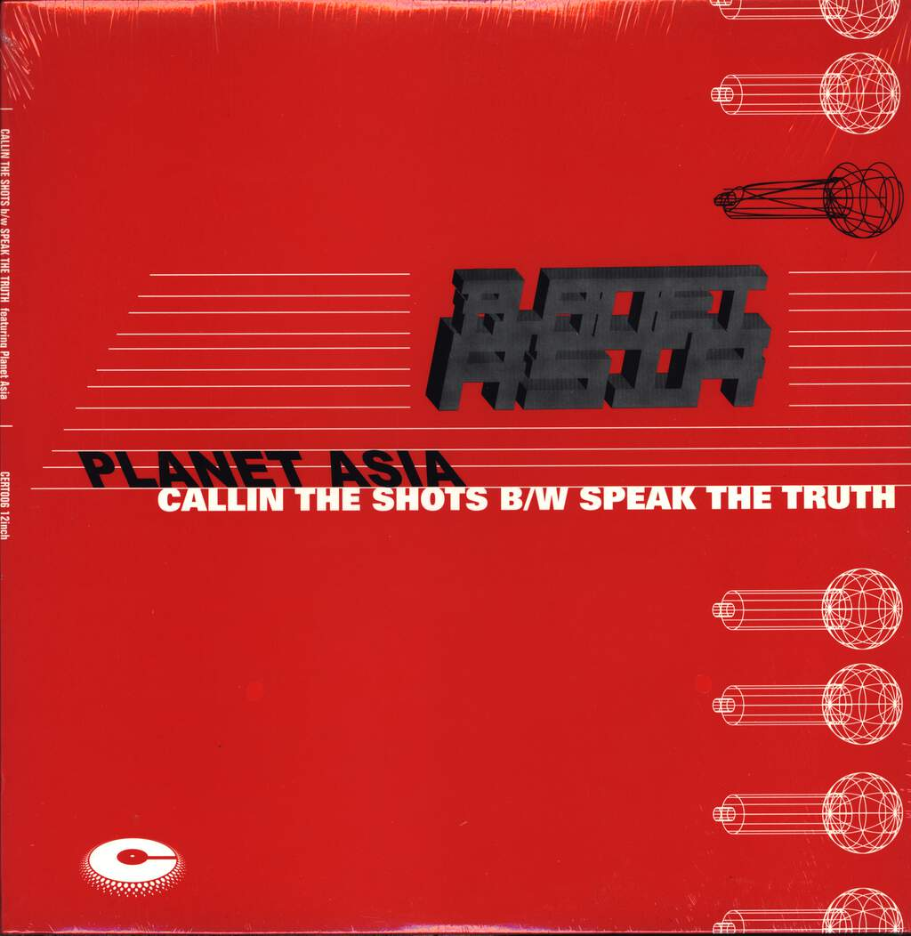 "Planet Asia: Callin The Shots / Speak The Truth, 12"" Maxi Single (Vinyl)"