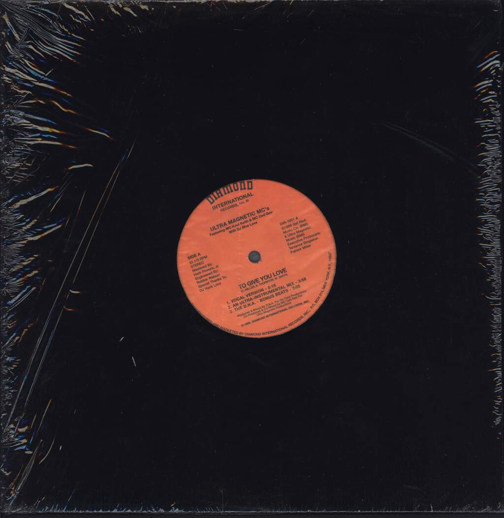 "Ultramagnetic Mc's: To Give You Love / Make You Shake, 12"" Maxi Single (Vinyl)"