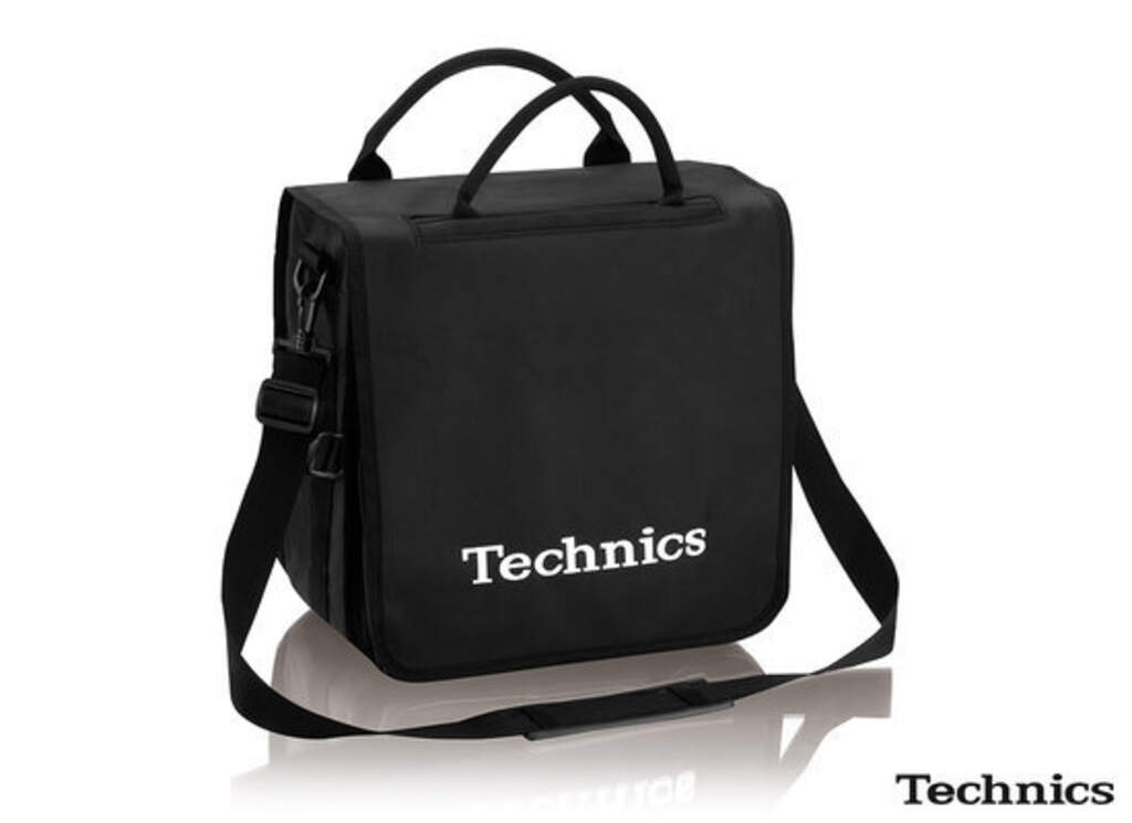 Recordbag / Plattentasche: Technics BackBag schwarz/weiß, Other