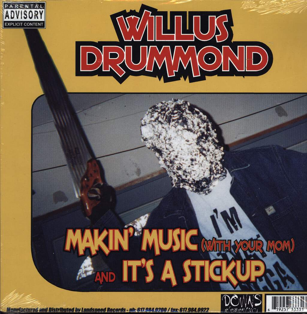 "Willus Drummond: Makin' Music (With Your Mom) / 2 Many Emcees, 12"" Maxi Single (Vinyl)"