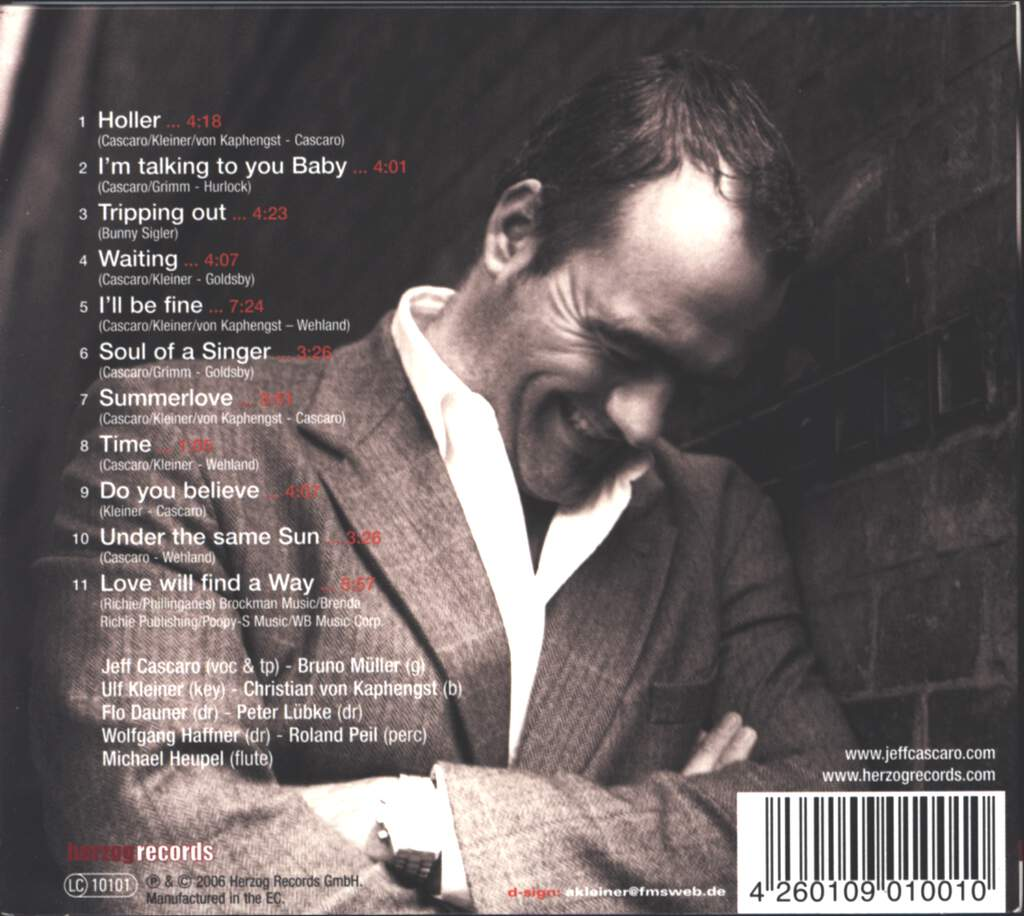 Jeff Cascaro: Soul Of A Singer, CD