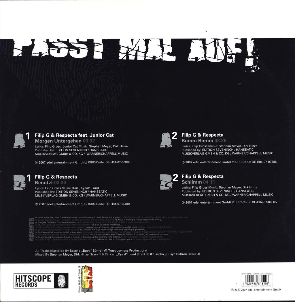 "Filip G: Passt Mal Auf!, 12"" Maxi Single (Vinyl)"