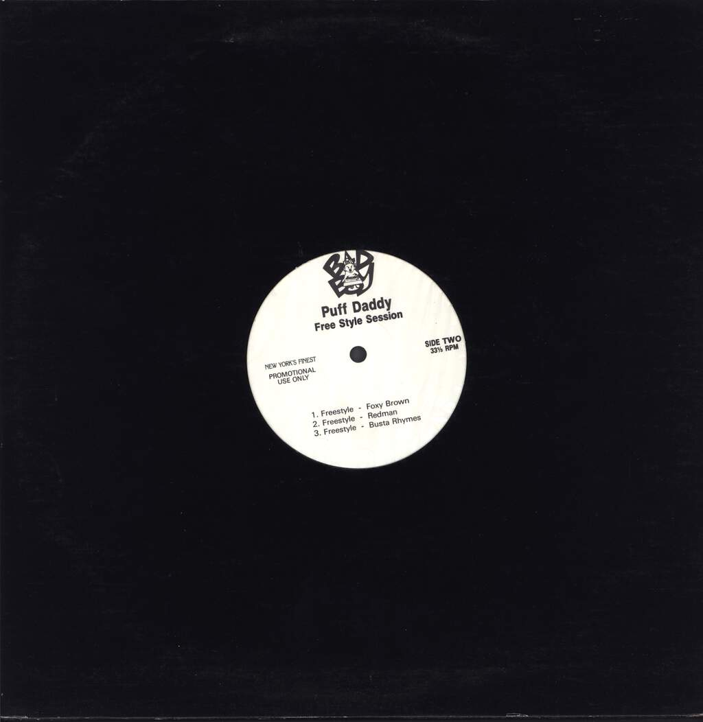 "Puff Daddy: Free Style Session, 12"" Maxi Single (Vinyl)"