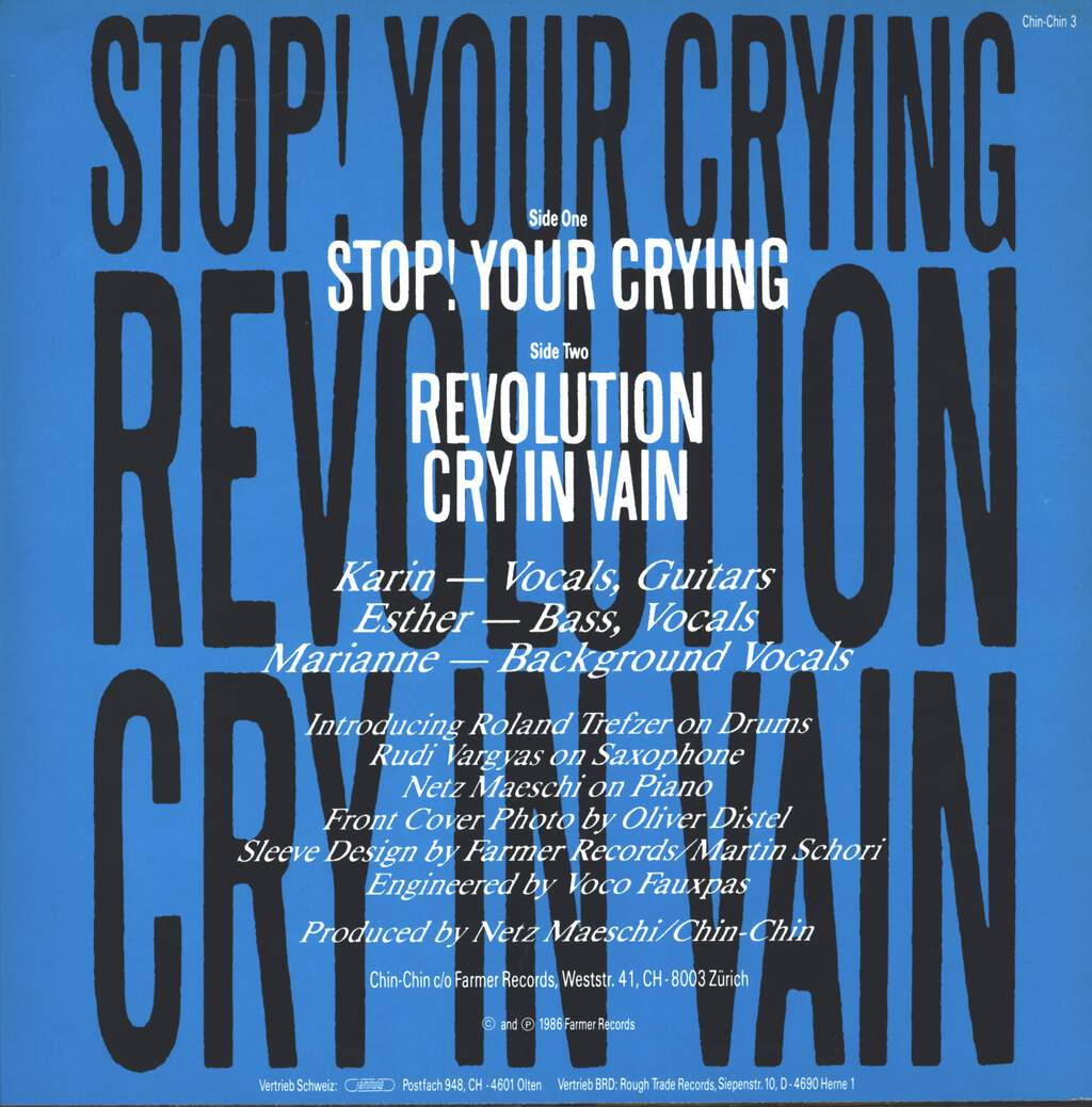 "Chin-Chin: Stop! Your Crying, 12"" Maxi Single (Vinyl)"