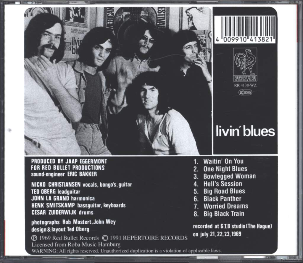 Livin Blues: Hell's Session, CD