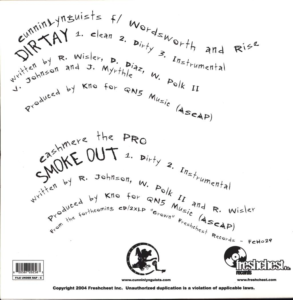 "CunninLynguists: Dirtay / Smoke Out, 12"" Maxi Single (Vinyl)"