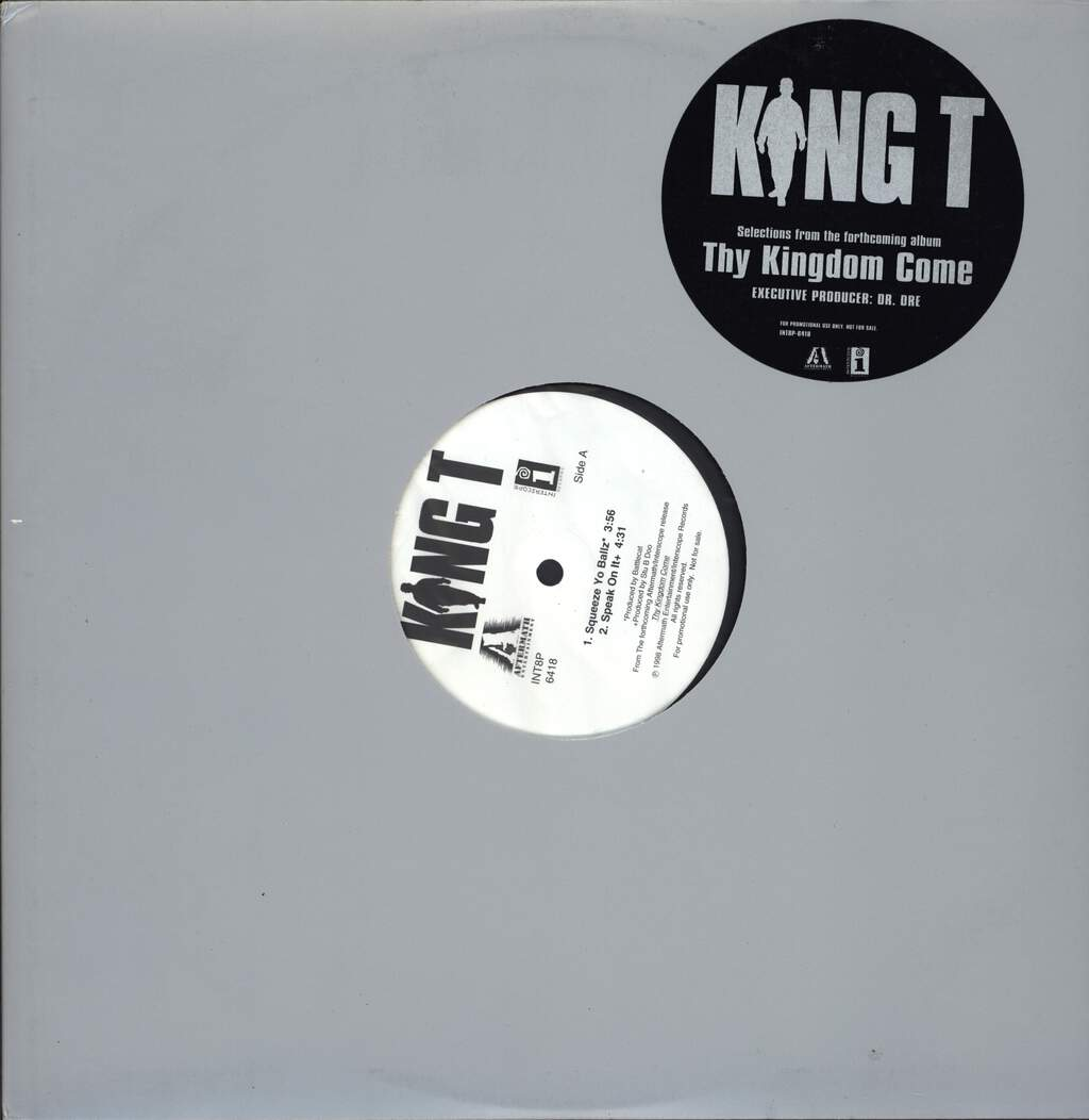 "King Tee: Thy Kingdom Come, 12"" Maxi Single (Vinyl)"