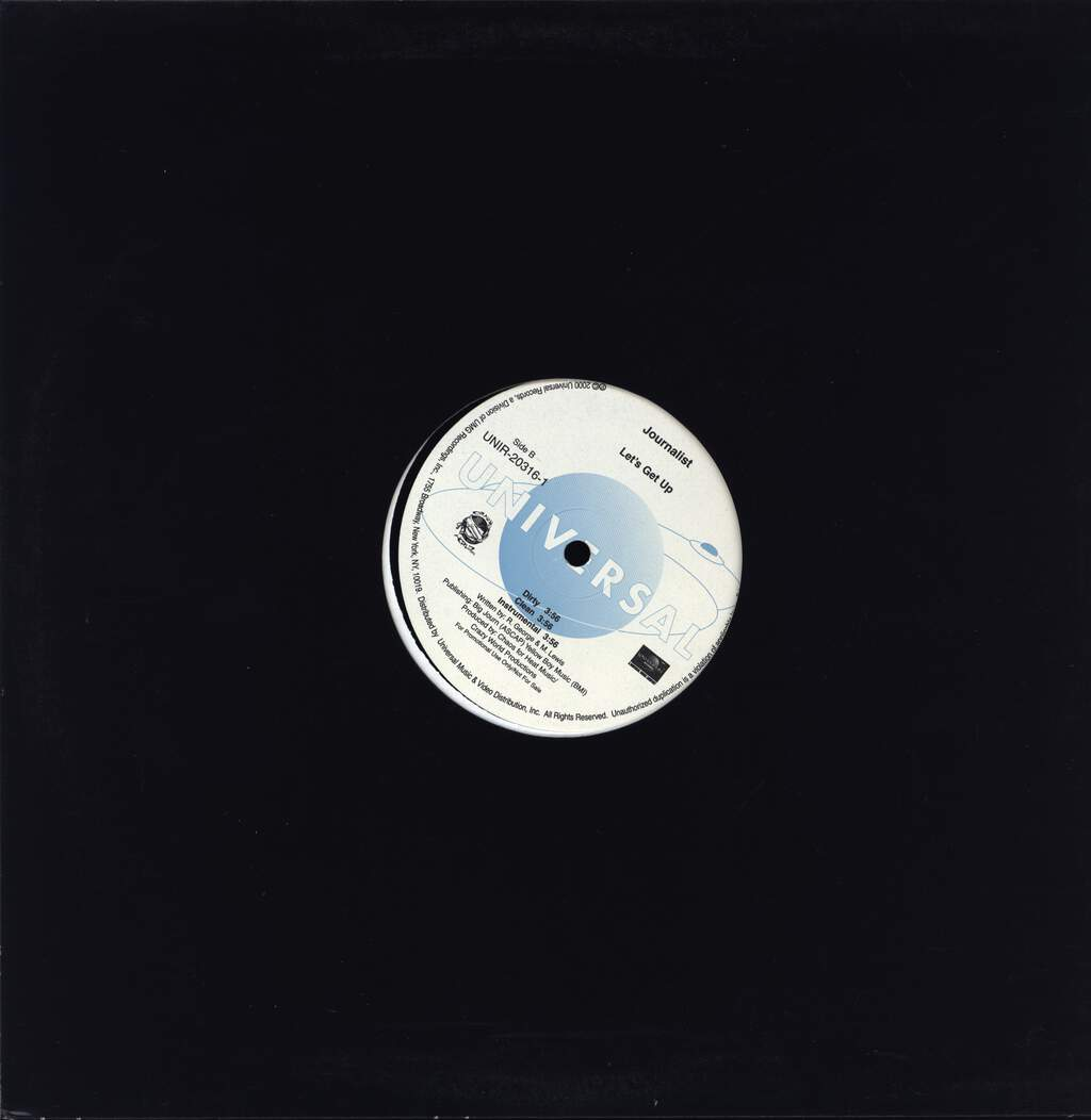 "Journalist: Let's Get Up, 12"" Maxi Single (Vinyl)"