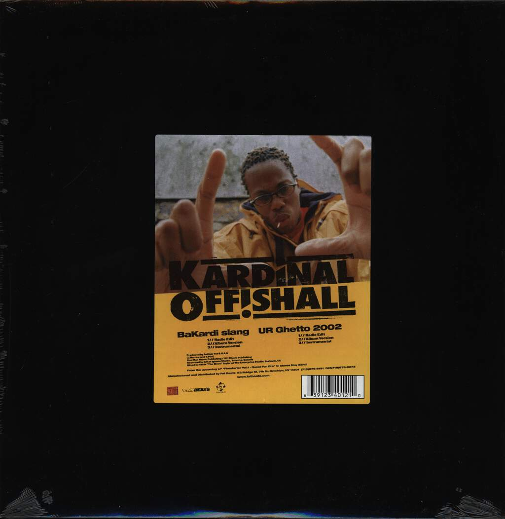 "Kardinal Offishall: Bakardi Slang / UR Ghetto 2002, 12"" Maxi Single (Vinyl)"