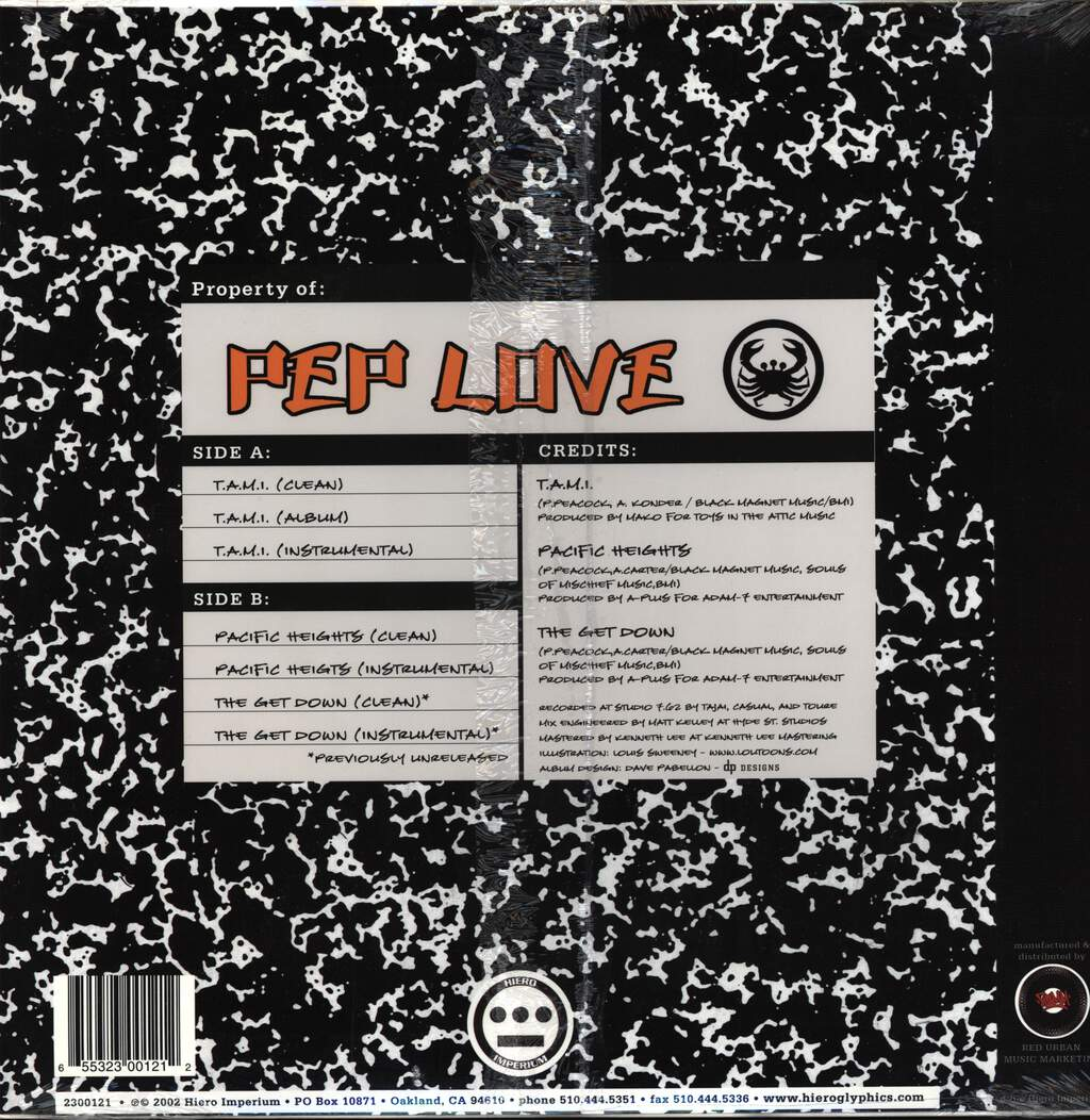 "Pep Love: T.A.M.I. / Pacific Heights, 12"" Maxi Single (Vinyl)"