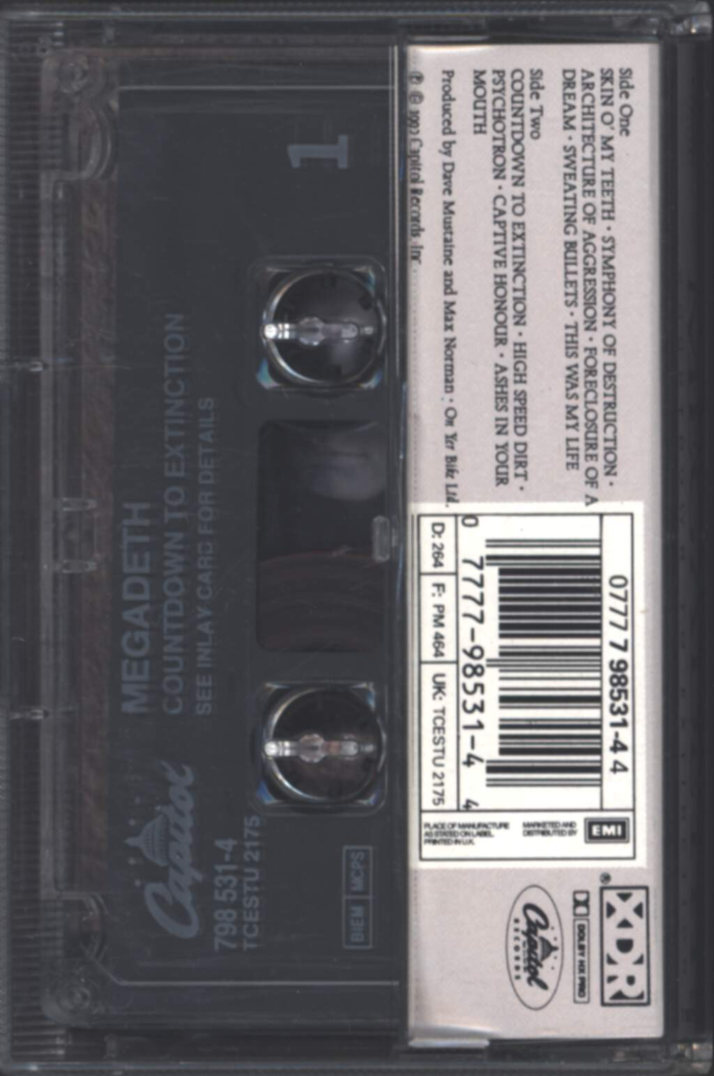 Megadeth: Countdown To Extinction, Compact Cassette