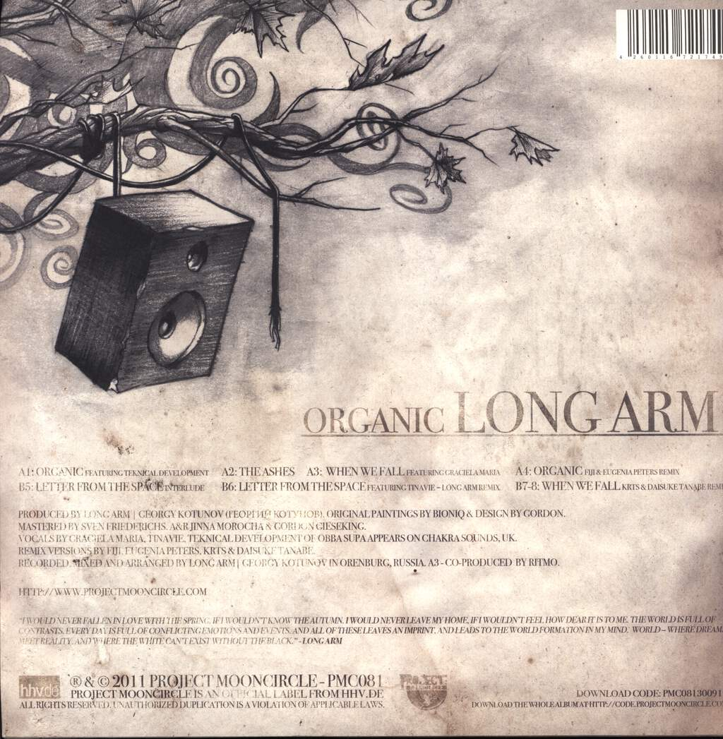 "Long Arm: Organic, 12"" Maxi Single (Vinyl)"