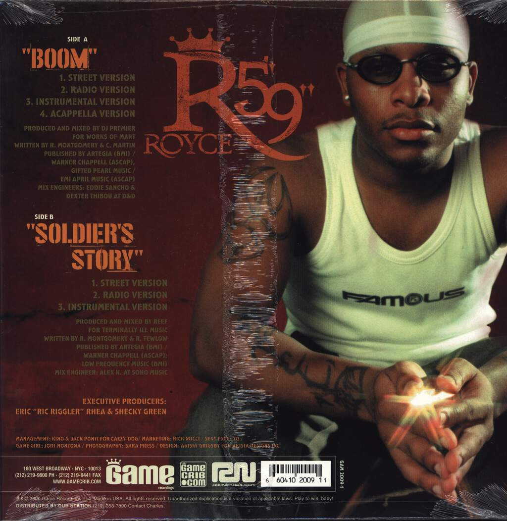 "Royce Da 5'9 "": Boom / Soldier's Story, 12"" Maxi Single (Vinyl)"