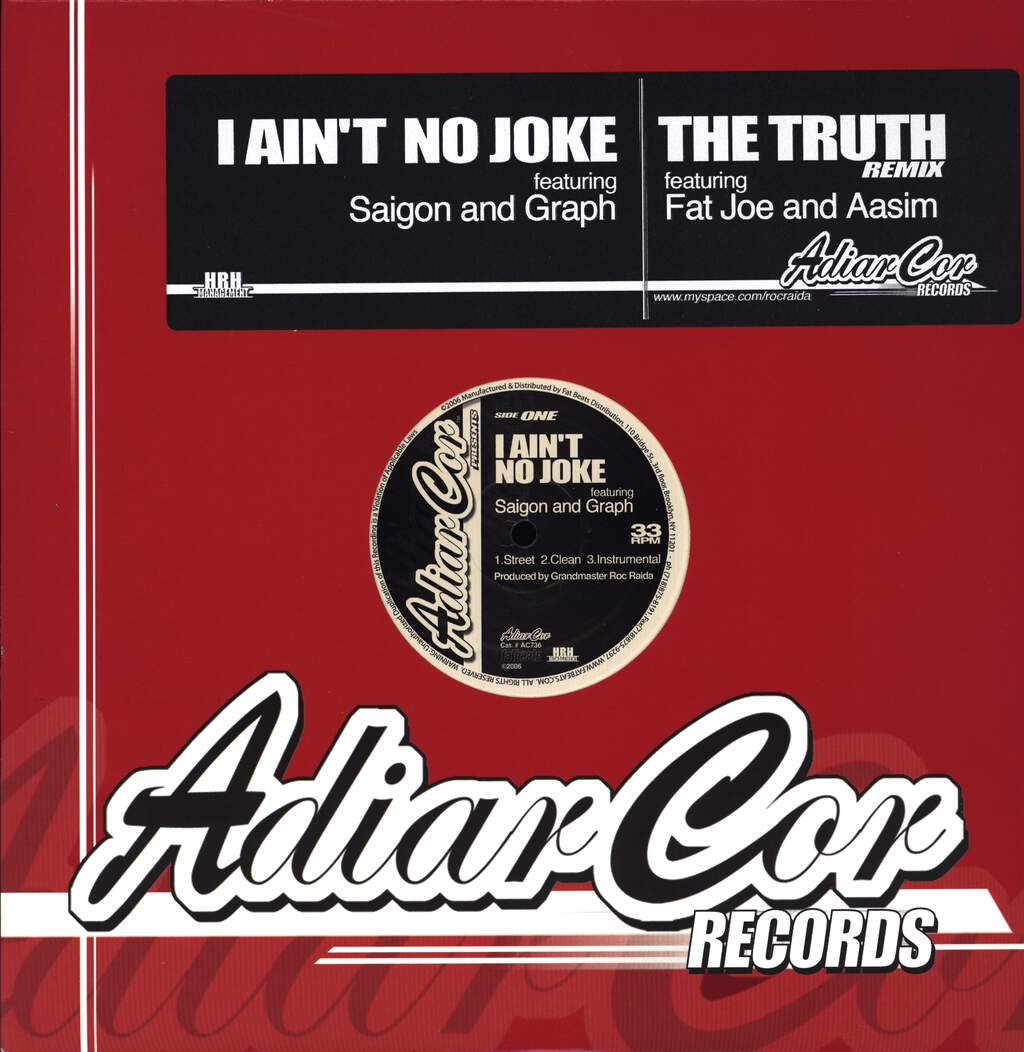 "Roc Raida: I Ain't No Joke / The Truth Remix, 12"" Maxi Single (Vinyl)"