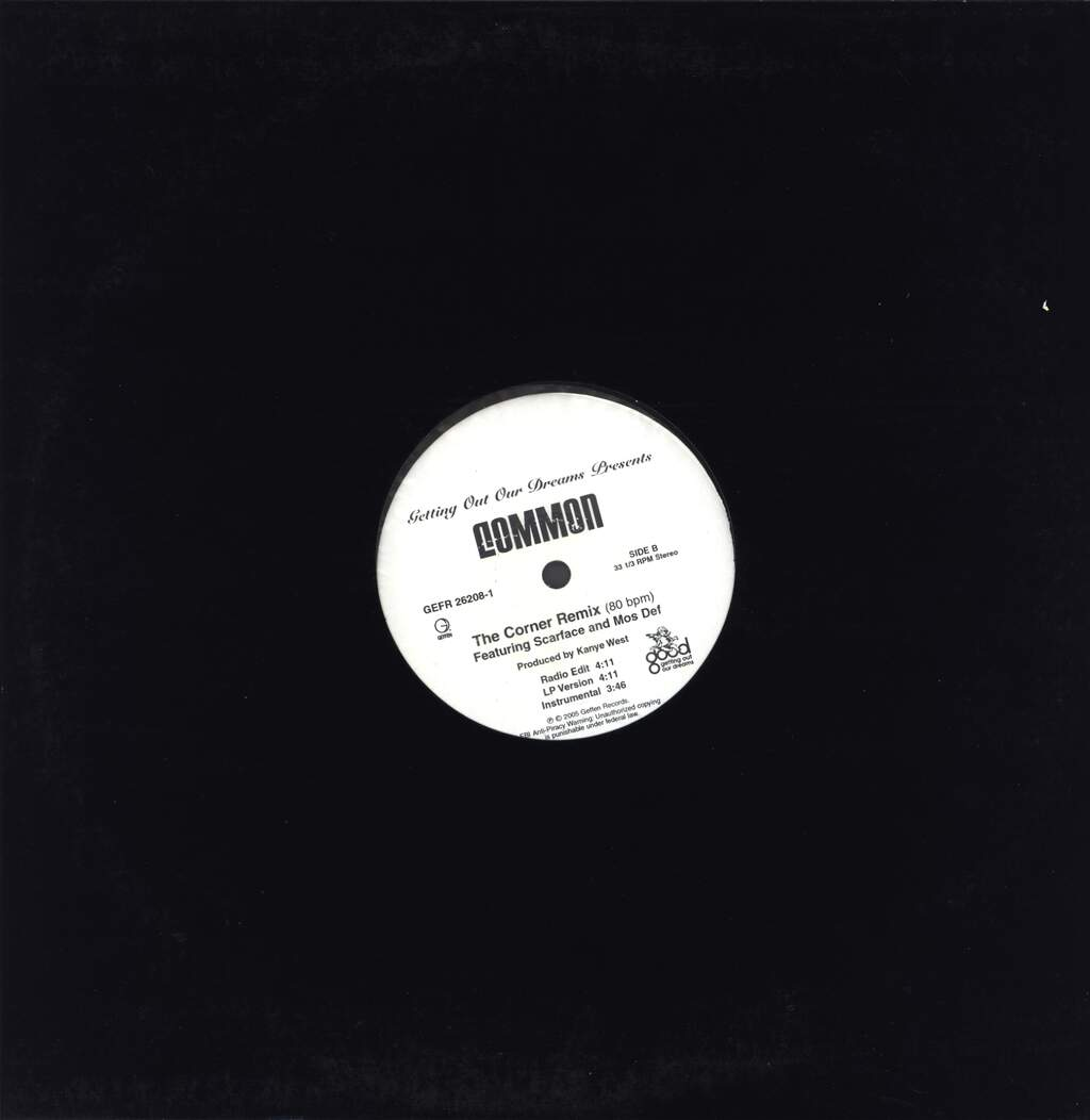 "Common: The Corner (Remix), 12"" Maxi Single (Vinyl)"