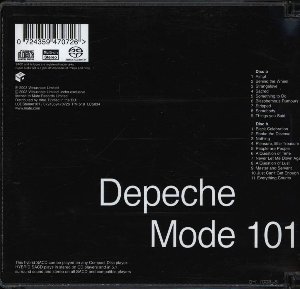 Depeche Mode: 101, CD
