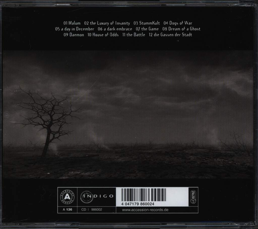 Diary Of Dreams: Elegies In Darkness, CD