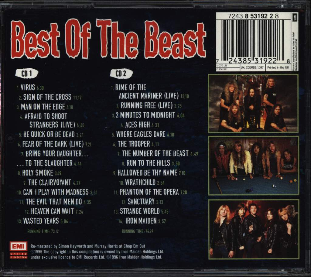 Iron Maiden: Best Of The Beast, CD