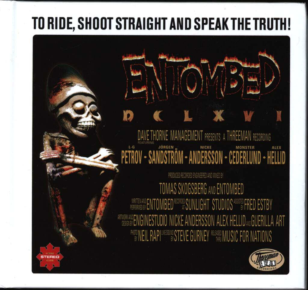 Entombed: DCLXVI To Ride, Shoot Straight And Speak The Truth, CD