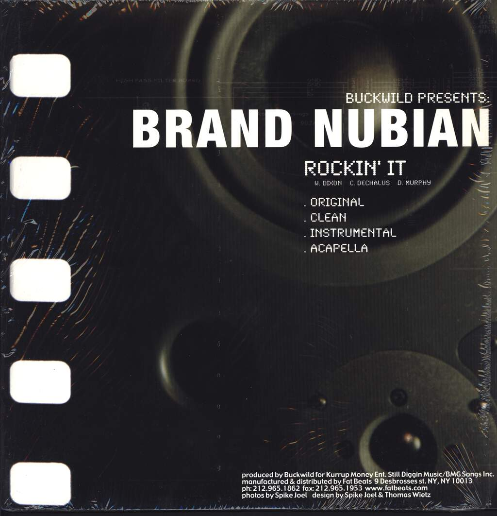 "Brand Nubian: Rockin' It / Spend It, 12"" Maxi Single (Vinyl)"