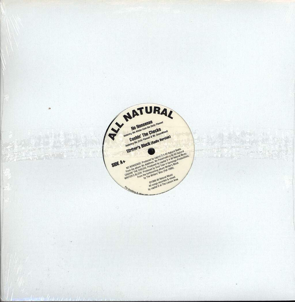 "All Natural: It's O.K., 12"" Maxi Single (Vinyl)"