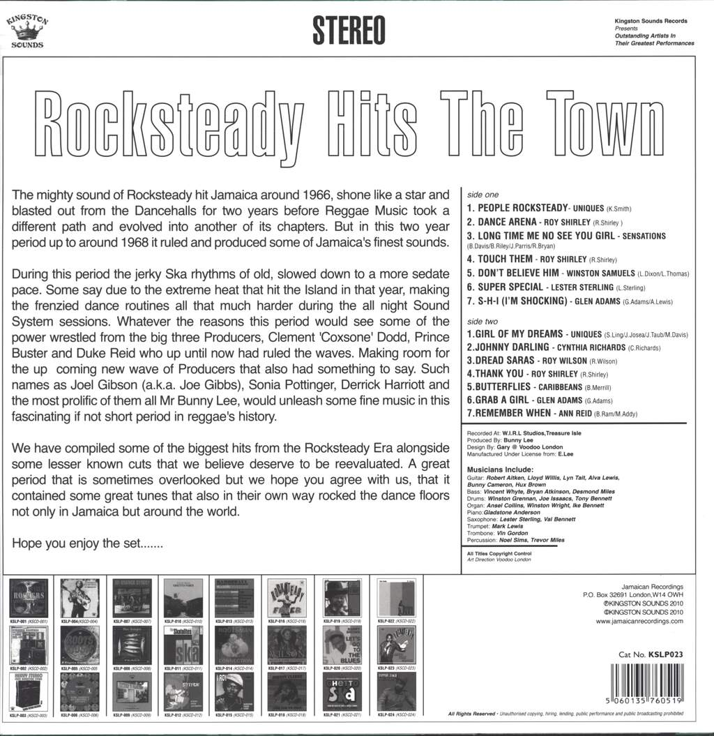 Various: Rocksteady Hits The Town, LP (Vinyl)