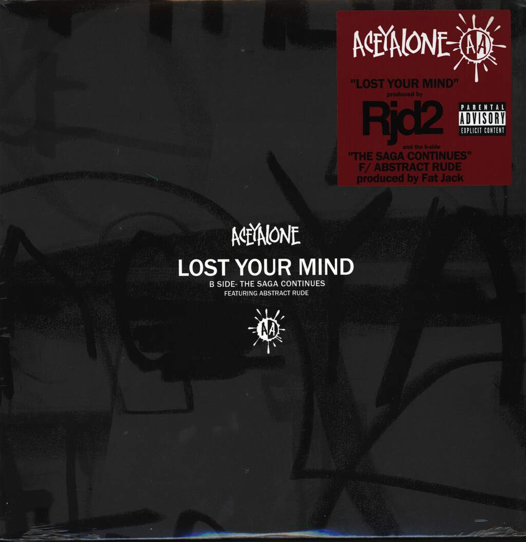 "Aceyalone: Lost Your Mind / The Saga Continues, 12"" Maxi Single (Vinyl)"