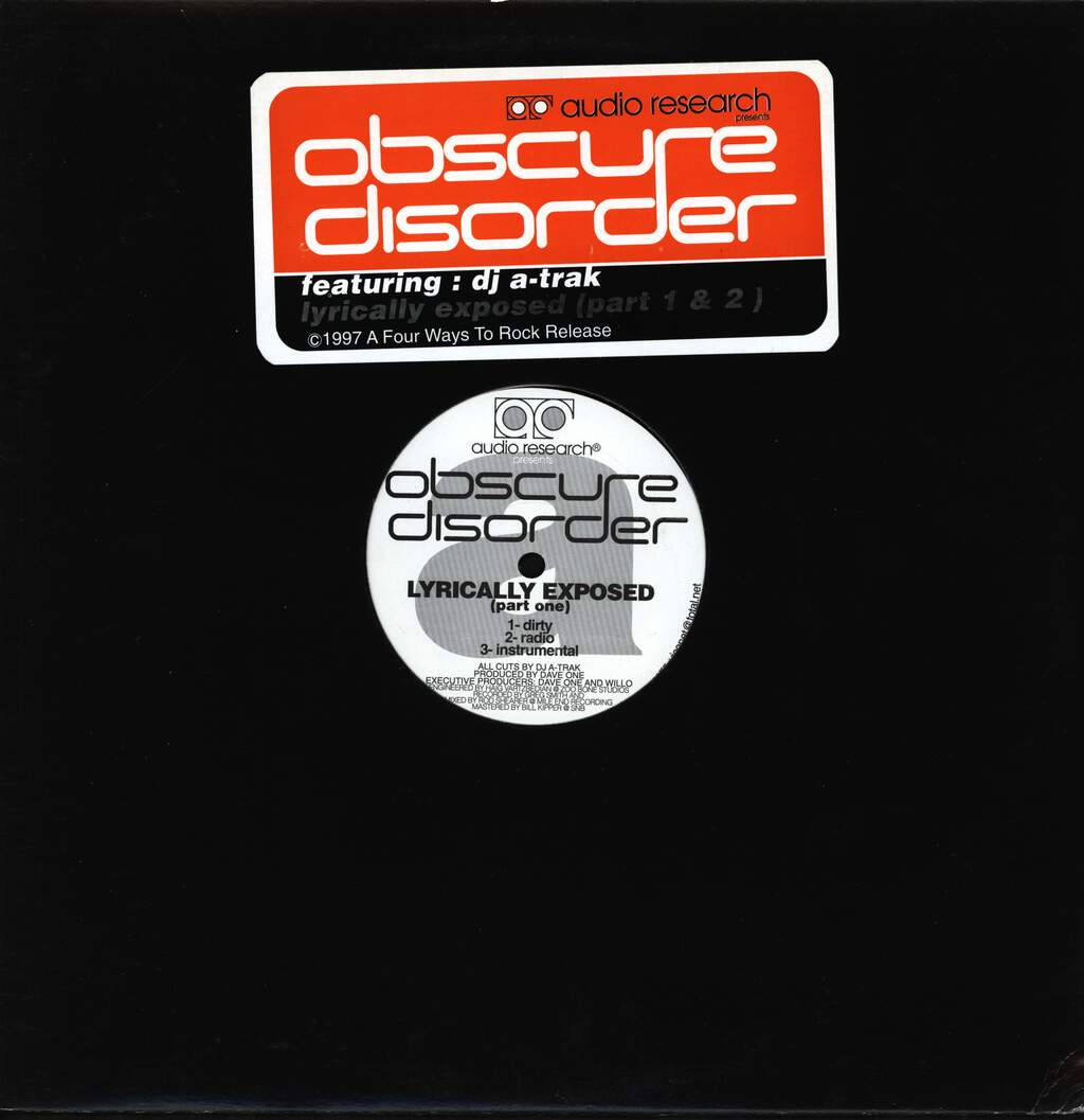 "Obscure Disorder: Lyrically Exposed, 12"" Maxi Single (Vinyl)"