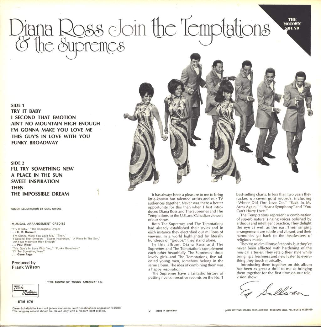 Diana Ross: Diana Ross & The Supremes Join The Temptations, LP (Vinyl)